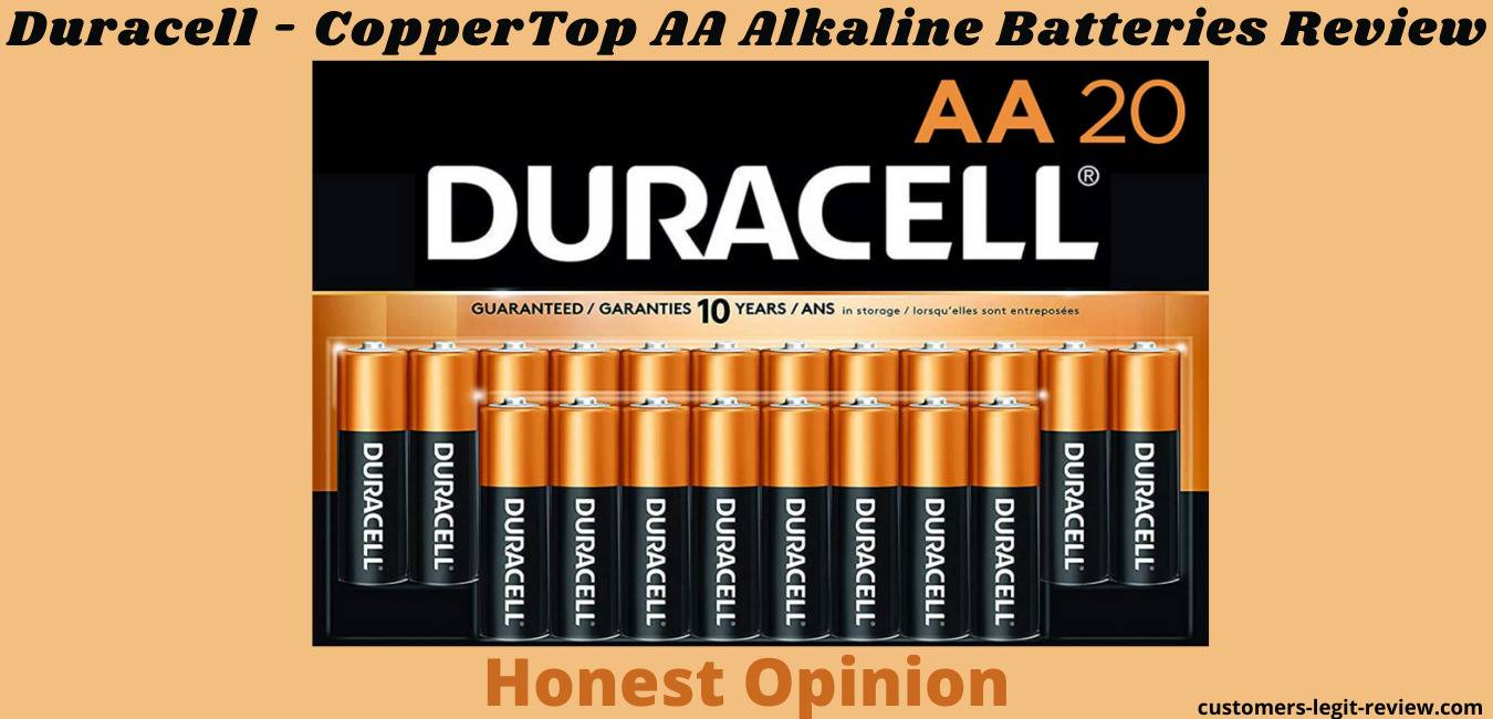 Duracell - CopperTop AA Alkaline Batteries Review