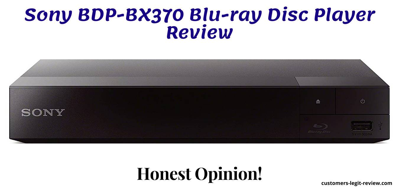 Sony BDP-BX370 Blu-ray Disc Player Review