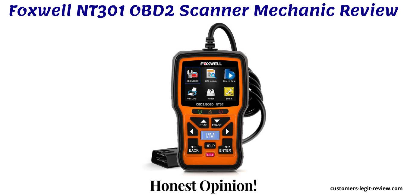 Foxwell NT301 OBD2 Scanner Mechanic Review