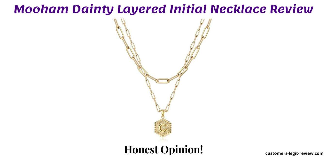 Mooham Dainty Layered Initial Necklace Review