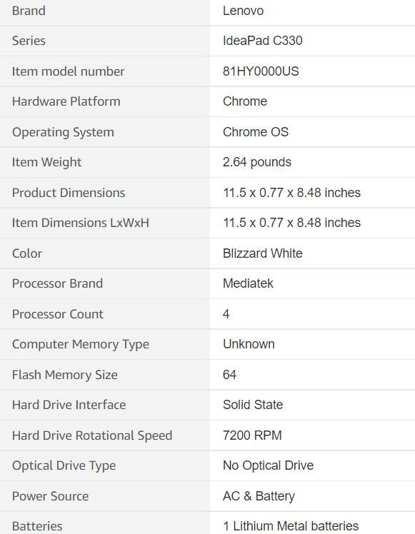 Lenovo Chromebook C330 Laptop Review